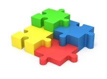 parties du puzzle 3D Travail d'équipe de concept Photos stock