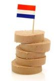 Parties empilées de saucisse de foie hollandaise traditionnelle image libre de droits