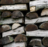 Parties en bois Image libre de droits