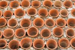 Parties en céramique rondes dans le mur, Jérusalem Photos libres de droits