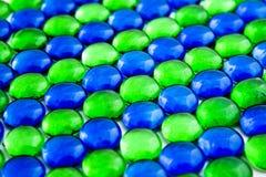 Parties en verre bleu et vert Photos libres de droits