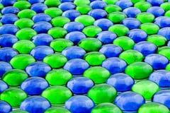 Parties en verre bleu et vert Images libres de droits
