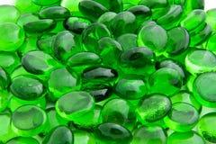 Parties en verre vert Photographie stock libre de droits