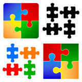 Parties fondamentales de puzzle Photographie stock
