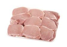 Parties fra?ches de viande de porc Images stock