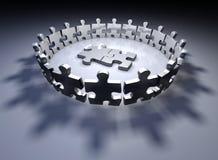 Parties humaines de puzzle Images libres de droits
