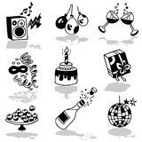 Parties icons Stock Images