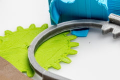 Parties imprimées colorées utilisant l'imprimante 3d Images libres de droits