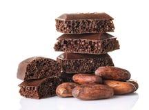 Parties poreuses de chocolat Photo libre de droits