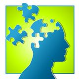 Parties psychologiques de puzzle Photos stock