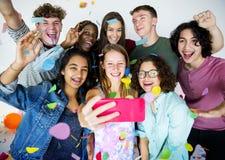 Partiet firar festliga aktiviteter för njutning arkivfoton