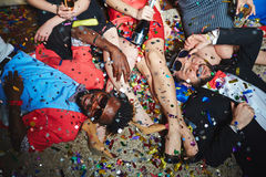 Partiet kopplar av royaltyfri foto
