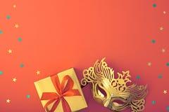 Partij achtergronddecoratie Het Masker van de maskerade Stock Afbeeldingen
