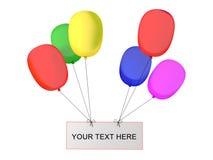 Partij baloons stock illustratie