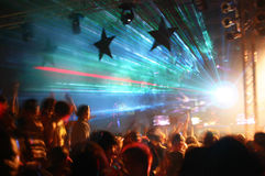 Partij bij Disco Royalty-vrije Stock Foto