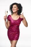 Partij, dranken, vakantie en vieringsconcept Royalty-vrije Stock Fotografie