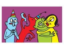 Partij grappige mensen Stock Afbeelding