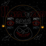 Partij Halloween 2016 Royalty-vrije Stock Afbeeldingen