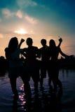 Partij in het water Royalty-vrije Stock Fotografie