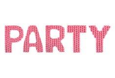 Partij Kleurenrood Royalty-vrije Stock Afbeelding