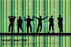 Partij met groene achtergrond Stock Afbeeldingen