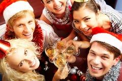 Partij met vrienden stock foto