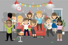 Partij thuis vector illustratie