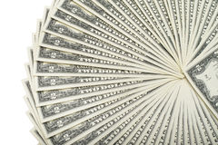 Partij van Amerikaanse dollarscontant geld Royalty-vrije Stock Afbeeldingen