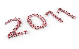 Partij van giften in 2011 Stock Foto