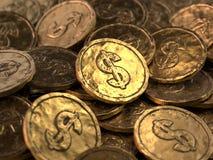Partij van gouden muntstukken stock illustratie