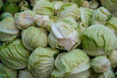 Partij van groenten bij markt royalty-vrije stock foto's
