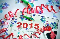 partij van het 2015 de nieuwe jarenbureau Royalty-vrije Stock Fotografie