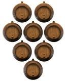 Partij van houten vaten Stock Fotografie