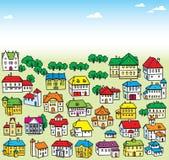 Partij van huizen stock illustratie