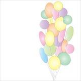 Partij van kleurrijke feestelijke ballons Royalty-vrije Stock Foto's