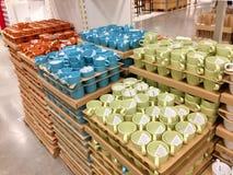 Partij van koffiemok voor verkoop Stock Afbeeldingen