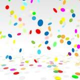 Partijachtergrond met een Kleurrijke Confetti voorraad vector illustratie