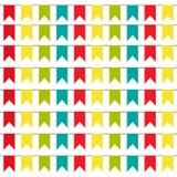 Partijachtergrond met kleurrijke Vlaggen Vectorillustratie Eps 10 stock illustratie