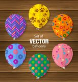 Partijballons in vlakke stijl nuttig voor groet en verjaardag of andere gelegenheden Vector stock illustratie