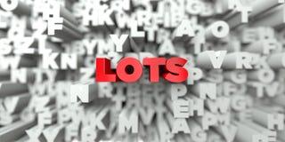 PARTIJEN - Rode tekst op typografieachtergrond - 3D teruggegeven royalty vrij voorraadbeeld stock illustratie