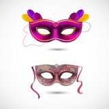 Partijmaskers stock illustratie