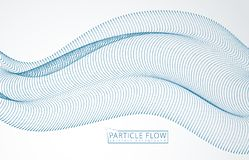 Partikel 3d greifen Reihenwelle, Ton ineinander Verwischt ringsum Punktvektor-Effektillustration futuristische Art der Technologi vektor abbildung