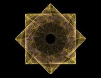 Partikel des abstrakten Fractal bildet sich bezüglich der Kernphysikwissenschaft und -Grafikdesigns Heilige futuristische Quantit stock abbildung