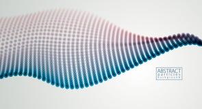 Partikel fließen abstraktes Design Verwischt ringsum Lichtvektor effe lizenzfreie abbildung