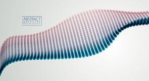 Partikel flie?en abstraktes Design Verwischt ringsum Lichtvektor-Effektillustration stock abbildung