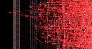 Partikel im Gitter Lizenzfreies Stockbild