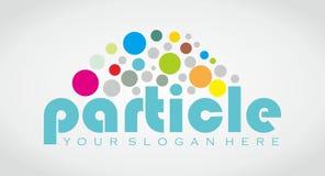 Partikel-Logo Stockbilder