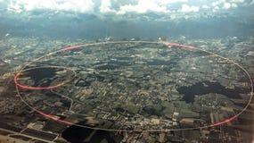 Partikelgaspedal på CERN royaltyfria bilder