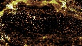partiklar för bokeh för abstrakt begrepp 4k guld- stock illustrationer