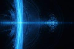 Partiklar flödar eller strömmen av ljus, abstrakt bakgrund royaltyfria foton